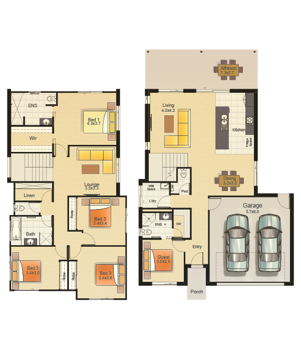 SEAVIEW 263 - FLOORPLAN COLOURED-WEB_RH